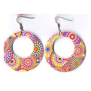 70s Psychedelic Earrings
