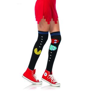 Pac Man Knee Socks