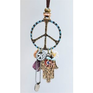 Peace Necklace with Charms