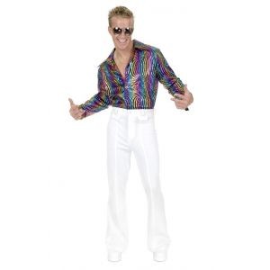 Men's White Disco Pants