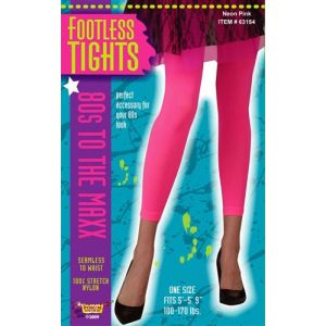 80's Footless Tights (Neon Pink)