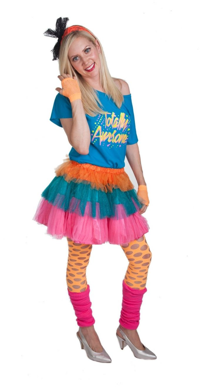 Brand New 80/'s Valley Girl Katy Perry Cindy Lauper Tween Costume